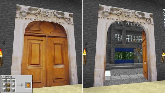 minecraft how to make a garage door