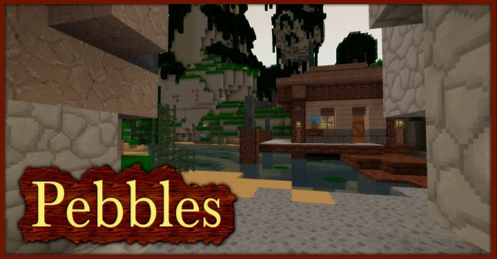 Pebbles 3D Resource Pack 1.10.1/1.9.4/1.8.9