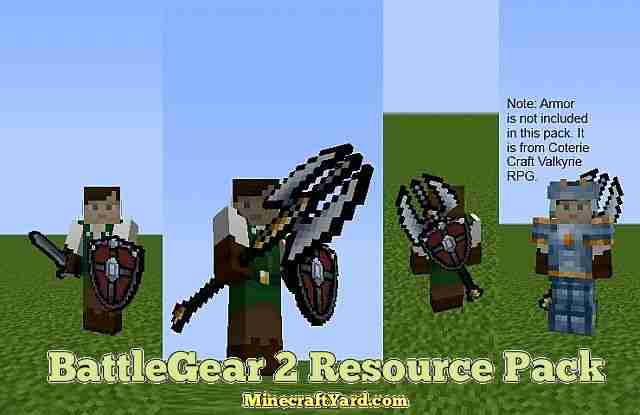 BattleGear 2 Resource Pack 1.13.1/1.13/1.12.2/1.11.2