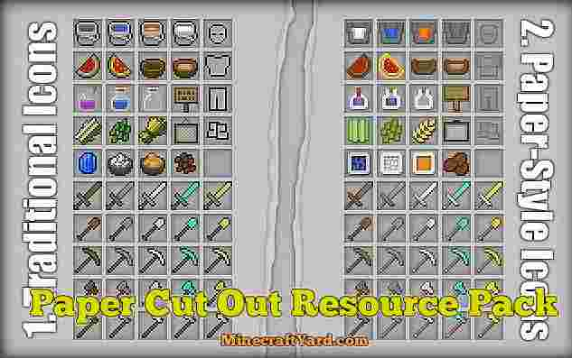 Paper Cut Out Resource Pack 1.10.1/1.9.4/1.8.9