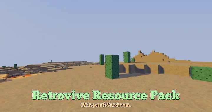 Retrovive Resource Pack 1.10.1/1.9.4/1.8.9