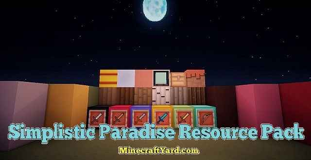 Simplistic Paradise Resource Pack 1.11.2/1.11/1.10.2