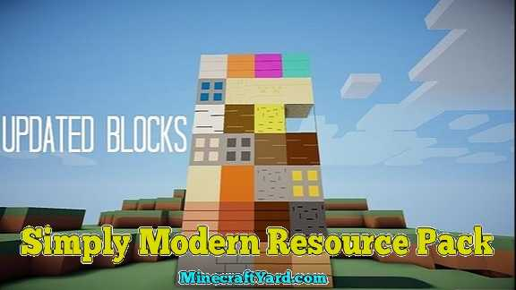 Simply Modern Resource Pack 1.10.1/1.9.4/1.8.9