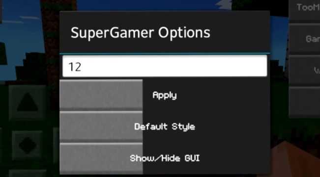 SuperGamer Mod 0.15.10/0.15.9/0.15.8