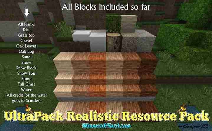 UltraPack Realistic Resource Pack 1.13.1/1.13/1.12.2/1.11.2