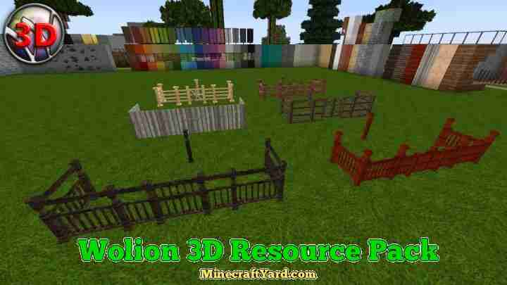 Wolion 3D Resource Pack 1.13.1/1.13/1.12.2/1.11.2