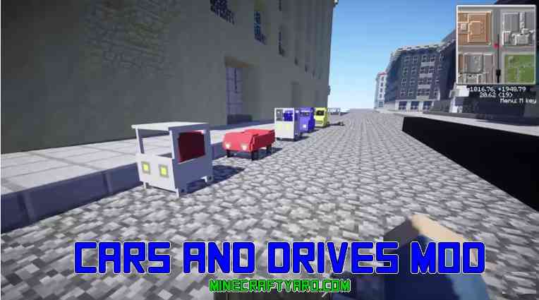 Cars and Drives Mod 1.13.1/1.13/1.12.2/1.11.2