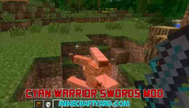 Cyan Warrior Swords 1.11/1.10.2