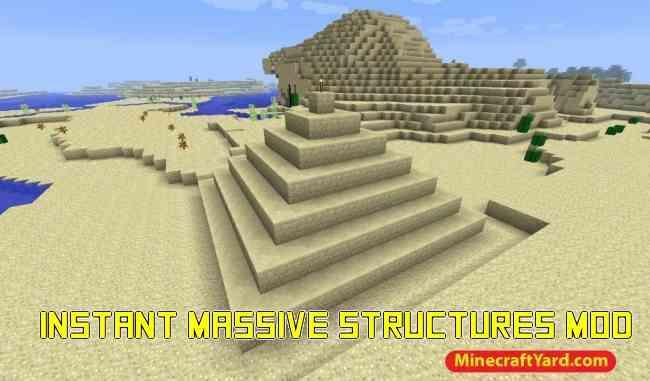 Instant Massive Structures Mod 1.11.2/1.10.2/1.9.4