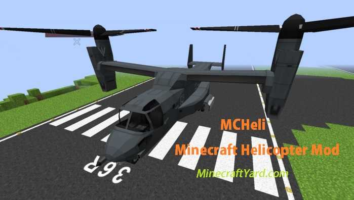 MCHeli Minecraft Helicopter Mod 1.11/1.10.2/1.9.4