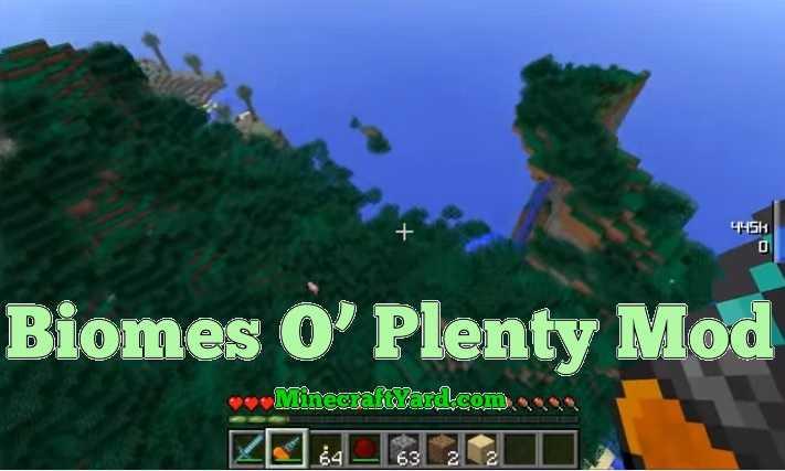 Biomes O' Plenty Mod 1.10.2/1.9.4