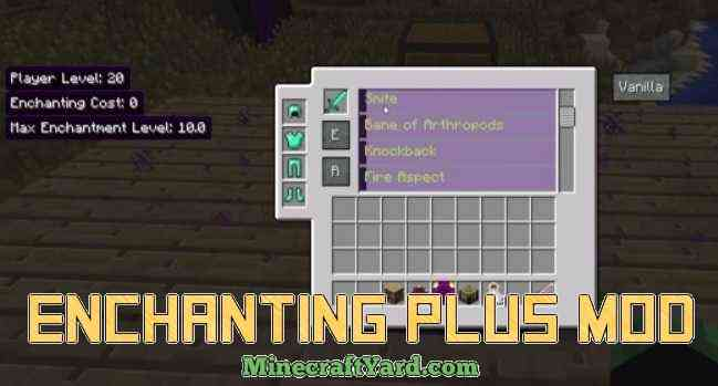 Enchanting Plus Mod 1.11/1.10.2/1.9.4