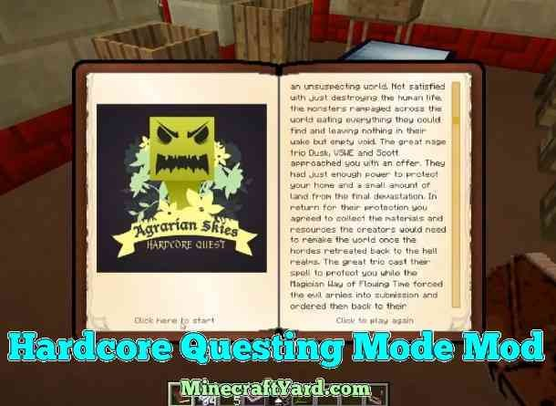 Harcore Questing Mode 1.13.1/1.13/1.12.2/1.11.2