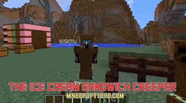 Ice Cream Sandwich Creeper Mod 1.12.2/1.11.2