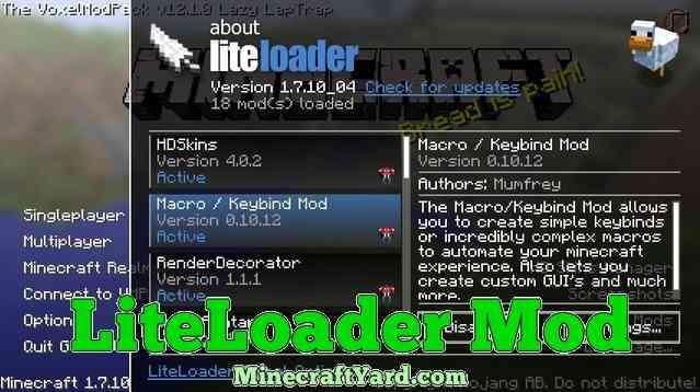 LiteLoader Mod 1.11.2/1.10.2