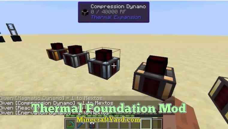 Thermal Foundation Mod 1.11.2/1.10.2/1.9.4