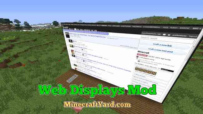 Web Displays Mod 1.13.1/1.13/1.12.2/1.11.2