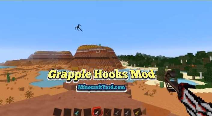 Grapple Hooks Mod 1.13.1/1.13/1.12.2/1.11.2