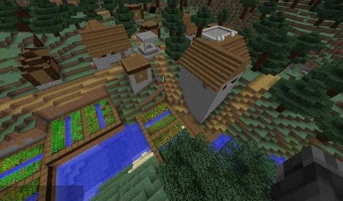 Taiga Village Minecraft 1.10