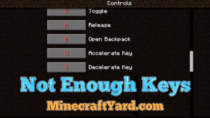 Not Enough Keys Mod 1.14/1.13.2/1.12.2/1.11.2