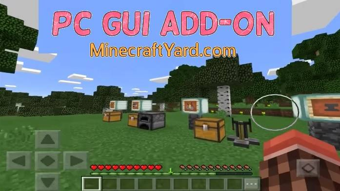PC GUI Add-On MCPE/Win 10/iOS
