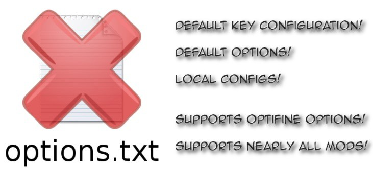 Default Options 1.13.1/1.13/1.12.2/1.11.2