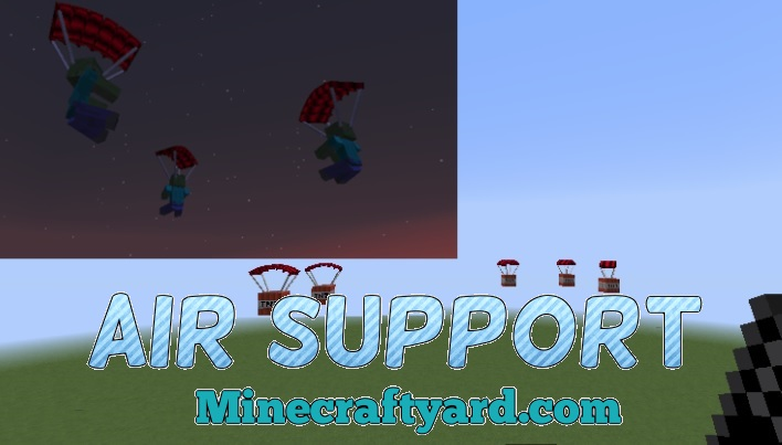 Air Support Mod 1.13.1/1.13/1.12.2/1.11.2