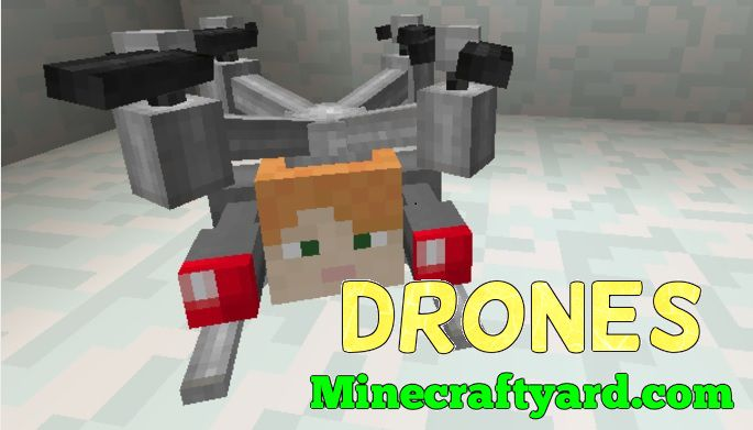 Drones Mod 1.13.1/1.13/1.12.2/1.11.2